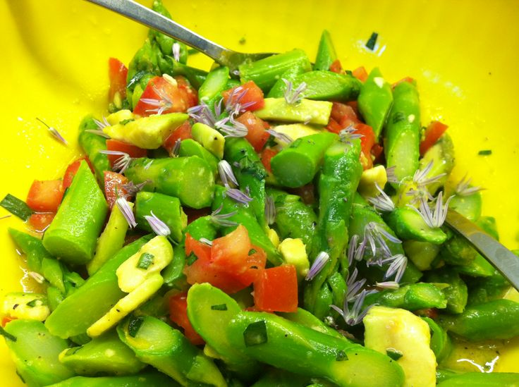 Green Asparagus and Avocado Salad | 90Days | Pinterest