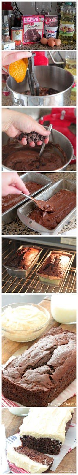 Double Chocolate Pumpkin Cake with Pumpkin Spice Buttercream