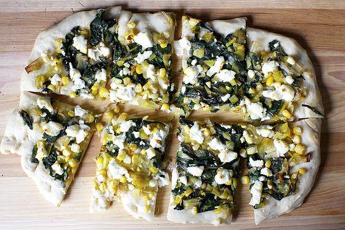 leek, corn and chard flatbread | A Recipe Inspiration Board | Pintere ...