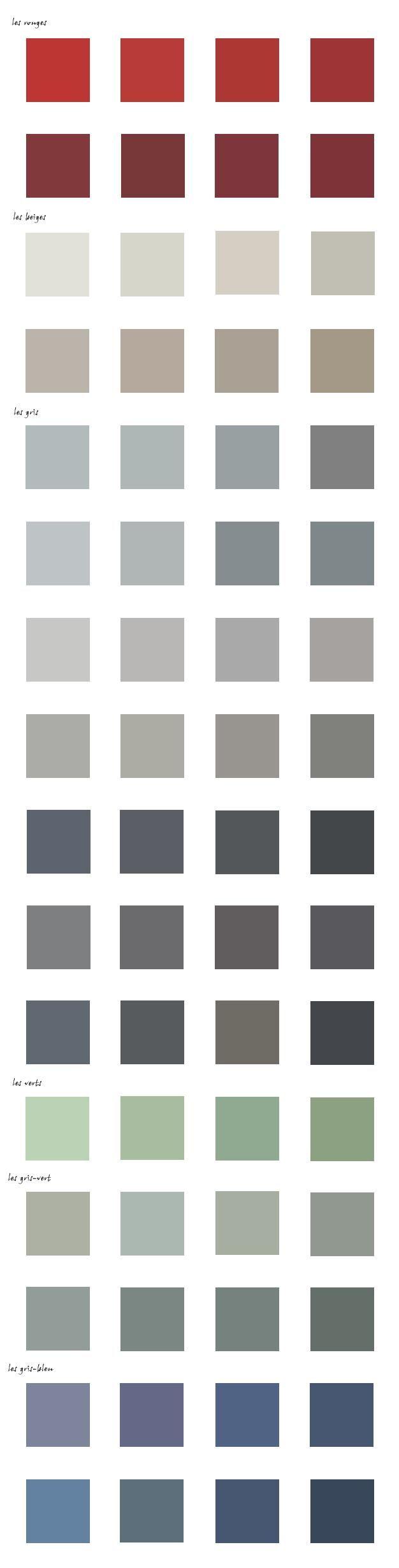 Le nuancier des couleurs ABF 37  ★ Nuancier ★  Pinterest