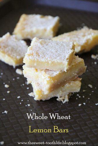 Whole Wheat} Lemon Bars | everything LEMON | Pinterest
