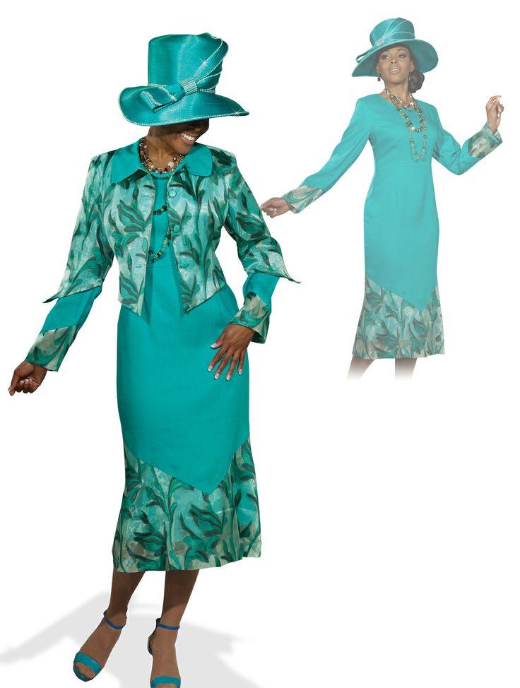 Donna Vinci Green Organza Womens Church Dress 11297 $189.00