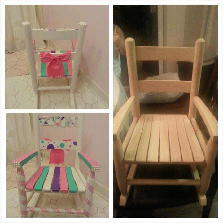 Little girl rocking chair DIY to match  DIY  Pinterest