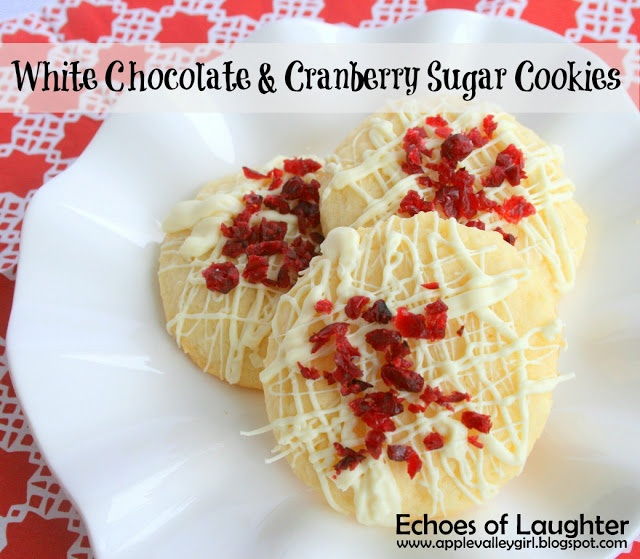 Echoes of Laughter: White Chocolate & Cranberry Sugar Cookies...