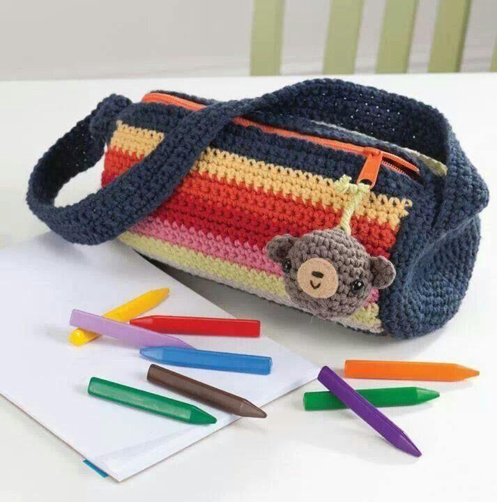 Cute pencil case Crochet Pinterest