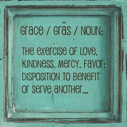 Grace, we need more.