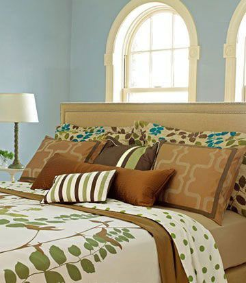 Color Idea Loving The Cool Blue With The Warm Brown And Green Colors