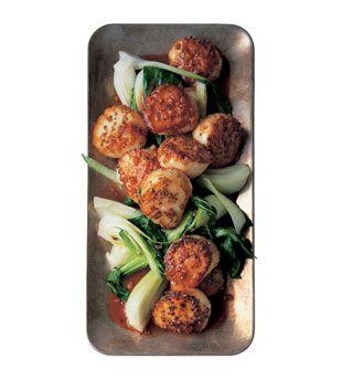 Seared Coriander Scallops with Bok Choy and Hoisin: Recipe: bonappetit ...