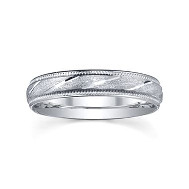 Wedding Band, Womens 4mm Sterling Silver - jcpenney