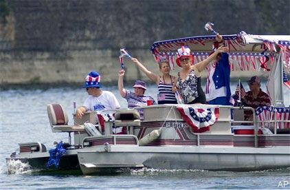 4th of july pontoon decorations