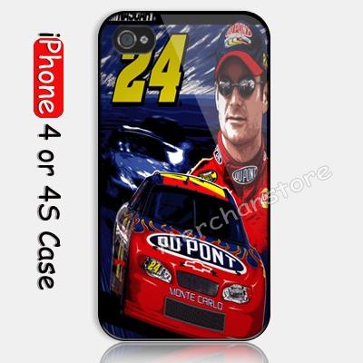 JEFF GORDON NASCAR CAR Custom iPhone 4 or 4S Case Cover