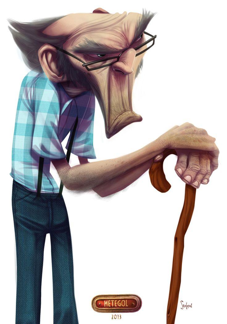Character Design Old Man : Old man character digital art pinterest
