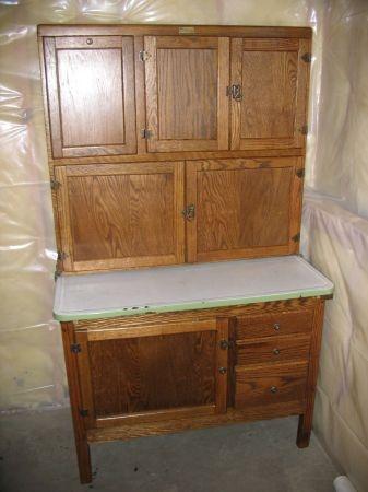 antique hoosier kitchen cabinet back in the day pinterest