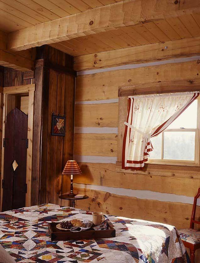 tiny log cabin bedroom cabin pinterest