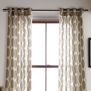 West elm ikat curtains - Gray Taupe Patterned Curtains Ideas De Inspiraci 243 N