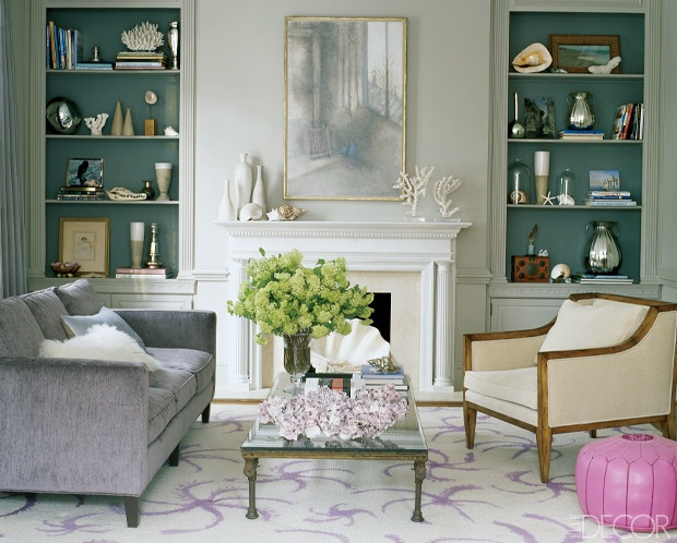 Elle decor teal bookcases for the home pinterest Elle home decor pinterest