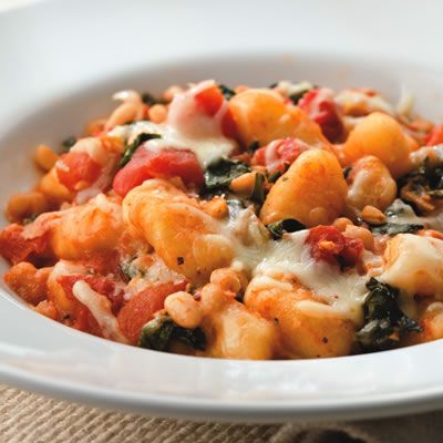 Skillet Gnocchi with Chard and White Beans - replaced white beans with ...
