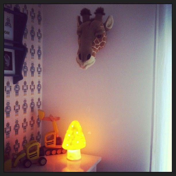 bibib beestenkop giraffe, figuurlamp paddenstoel geel en ferm Living ...