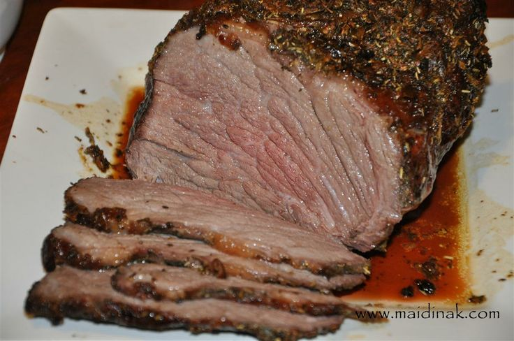 Garlic & Herb Crusted Beef Roast with Red Wine Gravy - Allergy Free ...