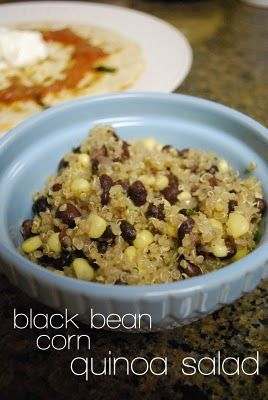 quinoa salad with black beans and corn | food | Pinterest