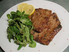 The Meltrix: Veal Scaloppine with lemon.