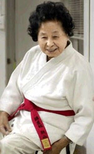 """Sensei Keiko Fukuda has become the first woman to achieve a tenth-degree black belt in judo - at the age of 98."""