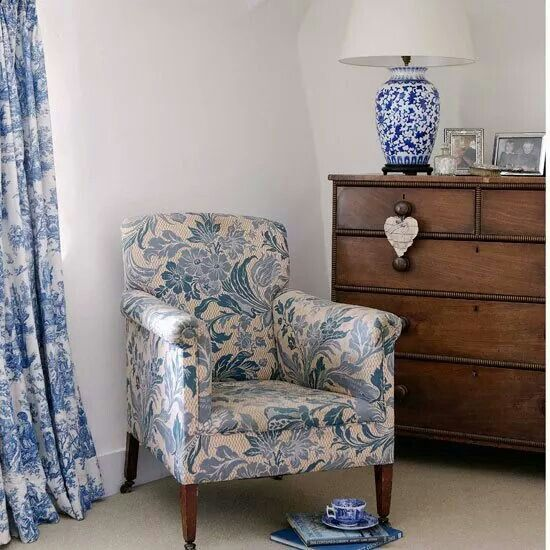 Blue Floral Chairs Pinterest