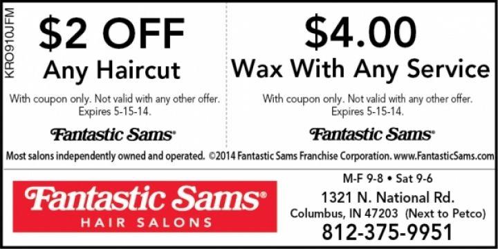 Fantastic sams discount coupons