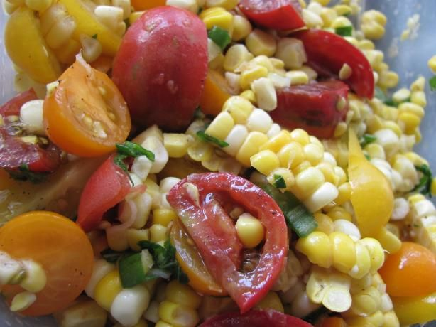 Bread Salad With Corn, Cherry Tomatoes & Basil Recipes — Dishmaps