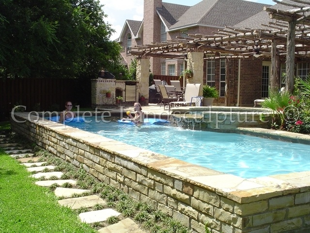 raised pool edge home ideas pinterest