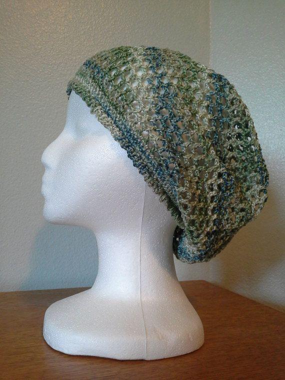 Crochet Snood : Fine Variegated Crochet Snood