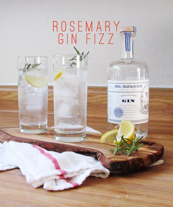 rosemary gin fizz via dressed in orange