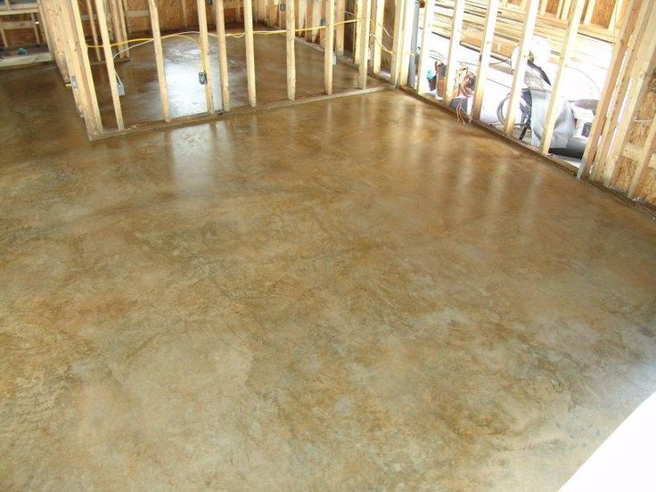 "Stained concrete floors: ""Golden Wheat"""