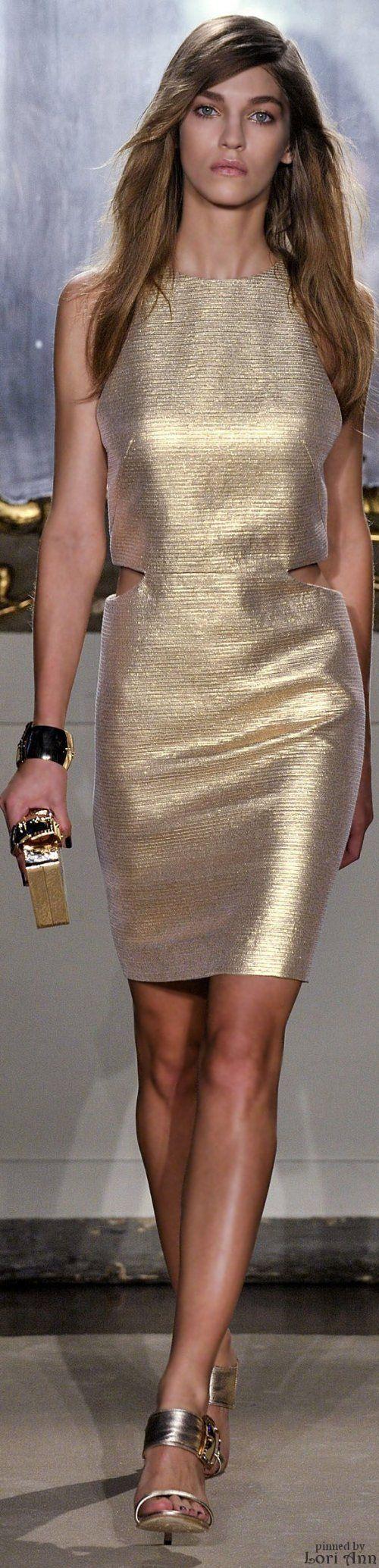 Genny Spring ~ Dress, Gold, 2015 RTW