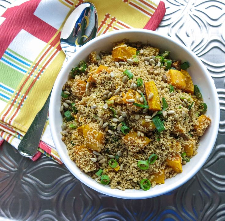 Whole wheat couscous with creamy roasted pumpkin {vegan} MODIFIED ...