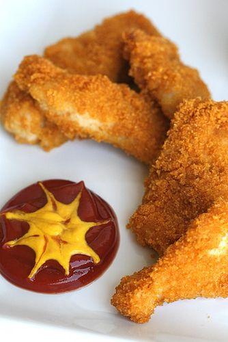 Crispy Baked Chicken Fingers. I absolutely *love* chicken fingers ...