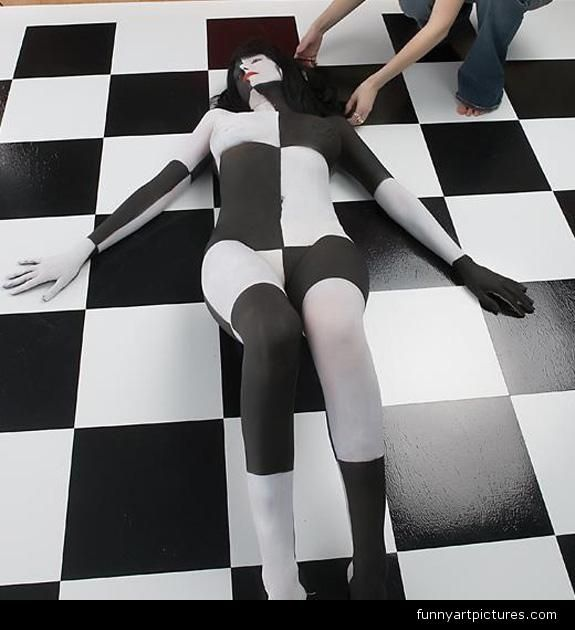 Erotic illusion art
