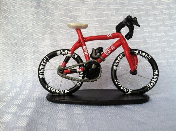 Custom Bicycle Bike Racing Polymer Clay Cake Topper ...