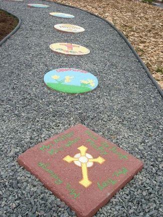 Rosary garden stones beautifully catholic pinterest for Rosary garden designs