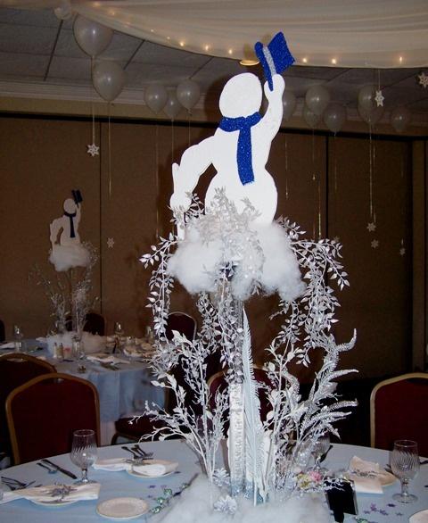 Snowman centerpiece | Wedding Inspiration | Pinterest