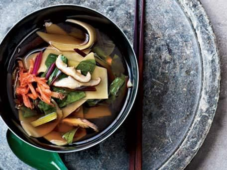 Shiitake-and-Swiss-Chard Soup with Hand-Cut Noodles | Provided by ...