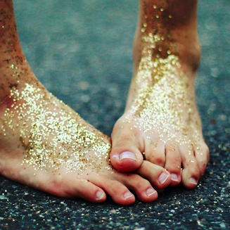 Fairy dust. Take a walk in your garden....barefoot.