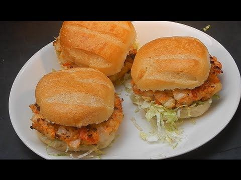 Shrimp and Scallop Burger | YUMMMMMMY Recipes to Cook | Pinterest