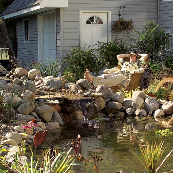 Build a backyard pond and waterfall for Making a backyard pond