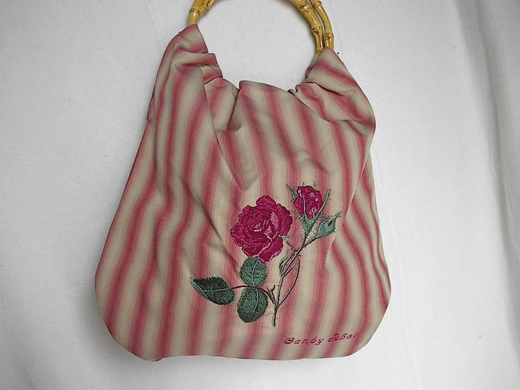Embroidered rose tote bag i made it pinterest