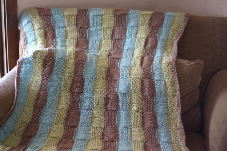 striped baby blanket Knitting Pinterest