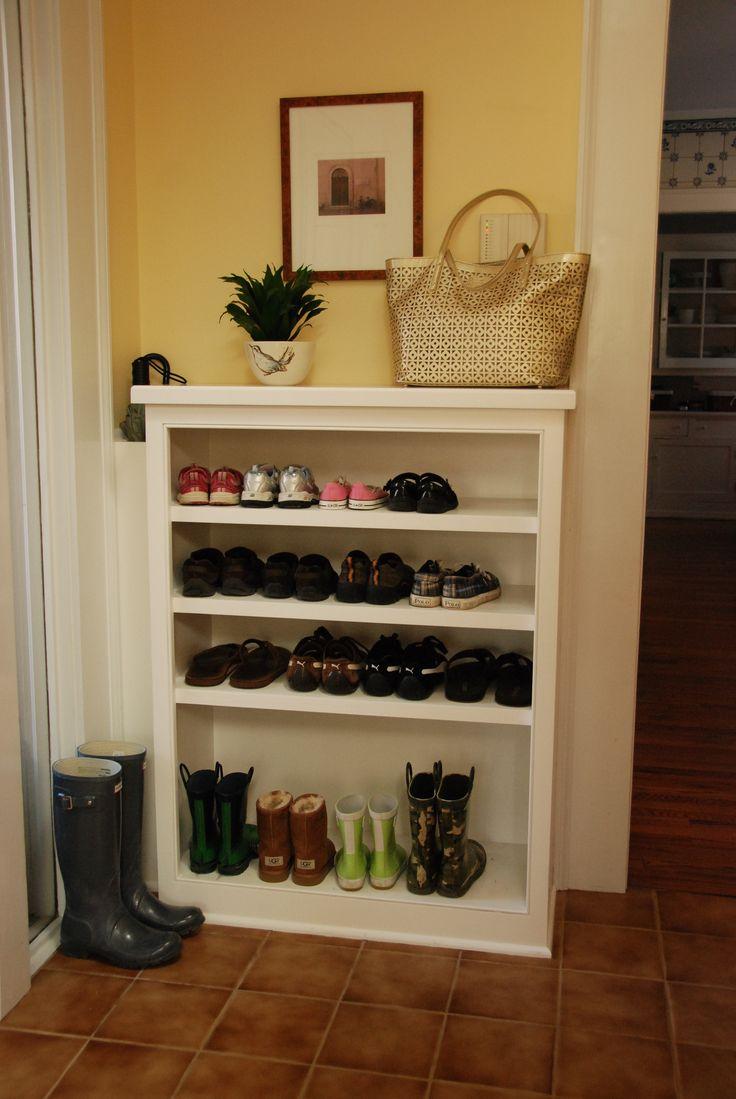 built in mud room shoe rack for the home pinterest. Black Bedroom Furniture Sets. Home Design Ideas