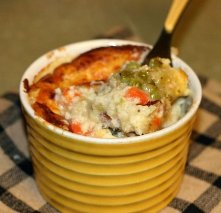 Light Chicken Pot Pies-substitute dairy free milk and cheese