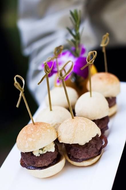 favorite appetizers, hand formed mini slider burgers with gorgonzola ...