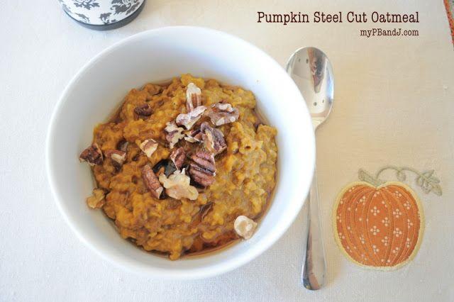 Slow Cooker Pumpkin Steel Cut Oatmeal from www.mypbandj.com